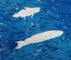 Mario Schifano Esso pesci albero quadri dipinti campo di grano