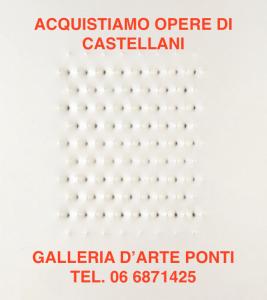 enrico-castellani-artista-opere-quotazioni-prezzi-vendita-acquisti-compro-valore-galleria-arte-valutazioni-stima